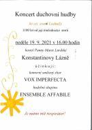 Koncert duchovní hudby 1